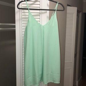 Tobi adjustable spaghetti strap shift dress